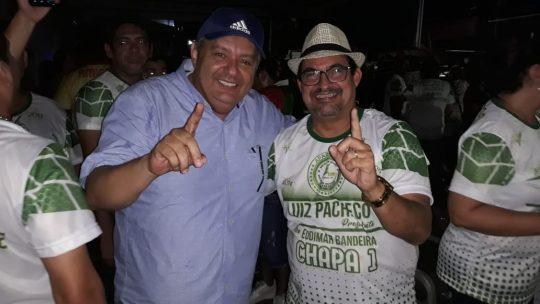 uiz Pacheco Presidente da Escola de Samba Aparecida e seu vice Eudimar Bandeira